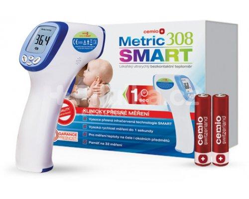 Bezkontaktní teploměr Cemio Metric 308 SMART s krabicí a baterky