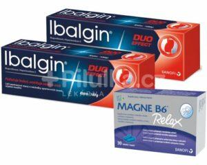 Balíček IbalginDuo Effect krém a Magne B6 Relax